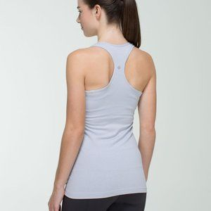 Lululemon Racerback Tank Top Blue and Grey Stripes size small